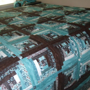 Aunt and Uncle Kitty's Log Cabin Quilt