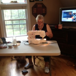 Catherine's sewing station!