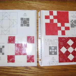 Red and White PRACTICE BLOCKS for Dear Jan
