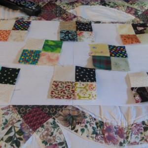 Four Patches and Cat Blocks Arrangement