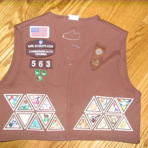The Front of Sarah\'s Brownie Vest