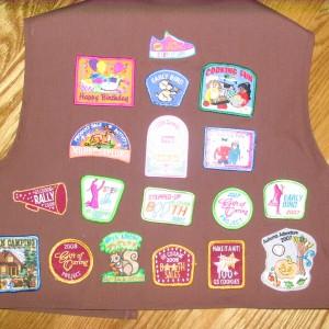 Back of Sarah\'s Brownie Vest