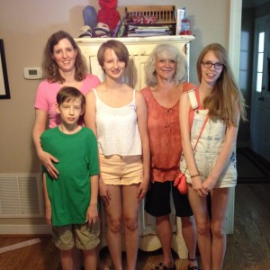 Christi with my grandangels, Cooper, Sarah and Leanna