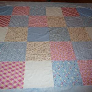 The Pieced Quilt Back from 15 1/2\