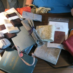 Catherine's quilt show finds....lots of yummy wools