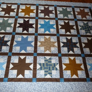 Fred's Boxy Stars Quilt Top Finished 10 25 08