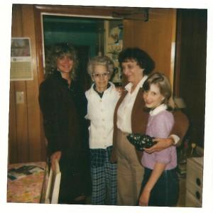 Grandma Reiter, GG, SAO and Christi 1984 April