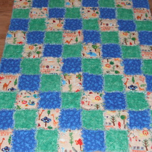 BABY BOY RAG QUILT for Mason Cook