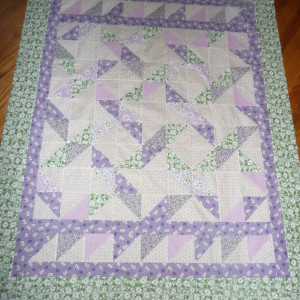 BABY GIRL RIBBON QUILT