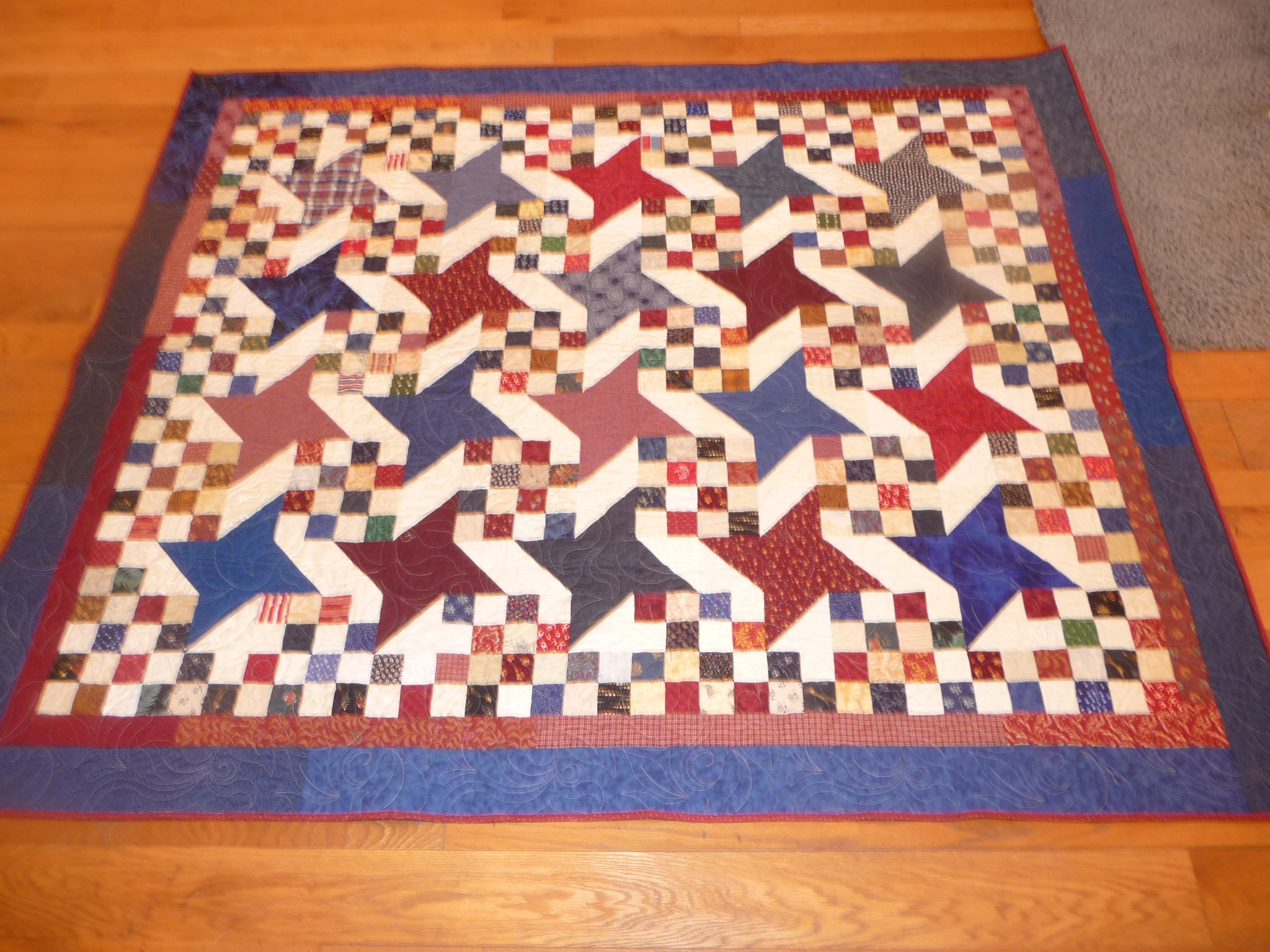 Shirley Anne's Heart » sao's Quilty Stuff Accomplished at Quilt Camp : milky way quilt - Adamdwight.com