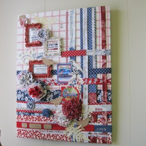 Catherine made the fabulous SWIRLY GIRLS FABRIC DISPLAY BOARD