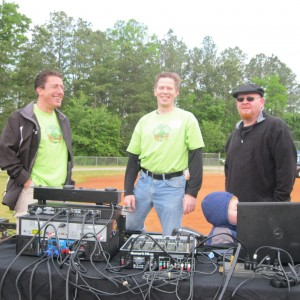 The Announcer, Greg, and THE DJ!