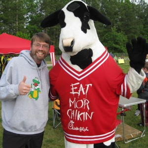 Mr. S. and the EAT MORE CHICKIN COW!