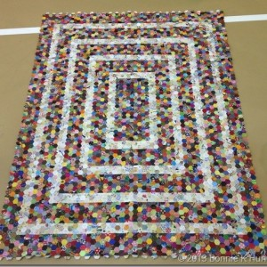 Susan's Hexie Quilt from Bonnie Hunter's Blog.