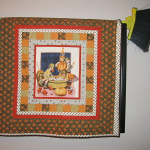 Vintage Hand Quilted Halloween Quilt