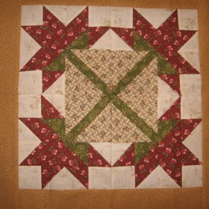 Four large flower blocks with border