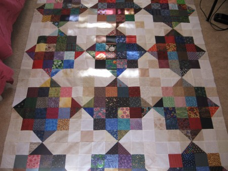 sao's SCRAPPY SPLIT NINE-PATCH Quilt