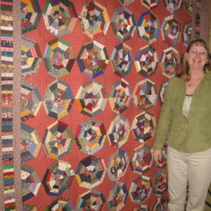 Bonnie and her SPIDER WEB Quilt