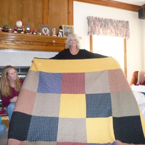sao with Back of Dustin's Quilt